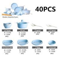 LanLan Ceramic Bowl Dish Pot Spoon Dinner Dish Plate Rice Salad Noodles Bowl Soup Plates Dinnerware Sets Kitchen Cooking Tool