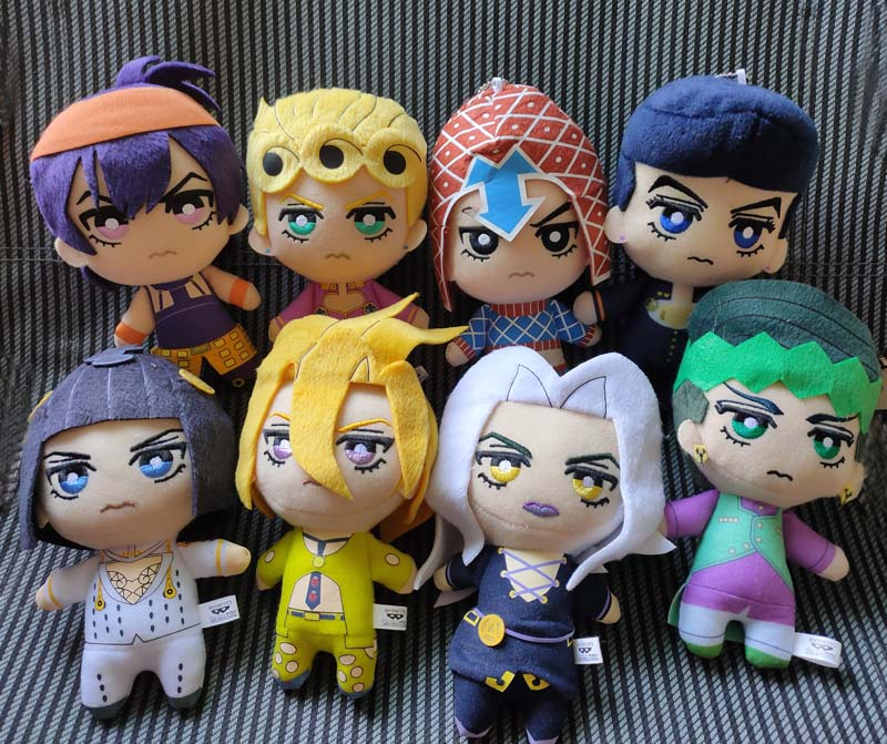 JAPAN JoJos Bizarre Adventure Golden Wind Plush Giorno Narancia Mista Buccellati Abbacchio Fugo Stuffed Plush Toy Doll