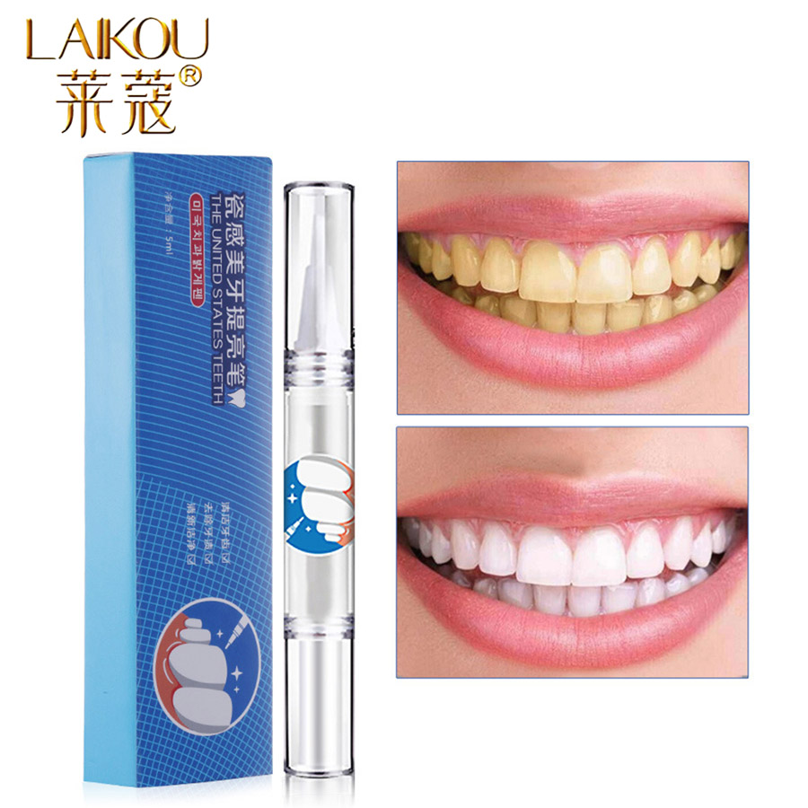 LAIKOU Brand Teeth Whitening Cleaning Bleaching Kit Dental White Teeth Whitening Pen Blanqueador Dental Neutral Effective Tools