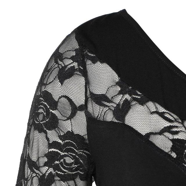 2019 Summer Chiffon Tops Women Blouses Vintage Lace Crochet Casual irregular Large Elegant Loose 5XL Big Plus Sizes Shirts 8