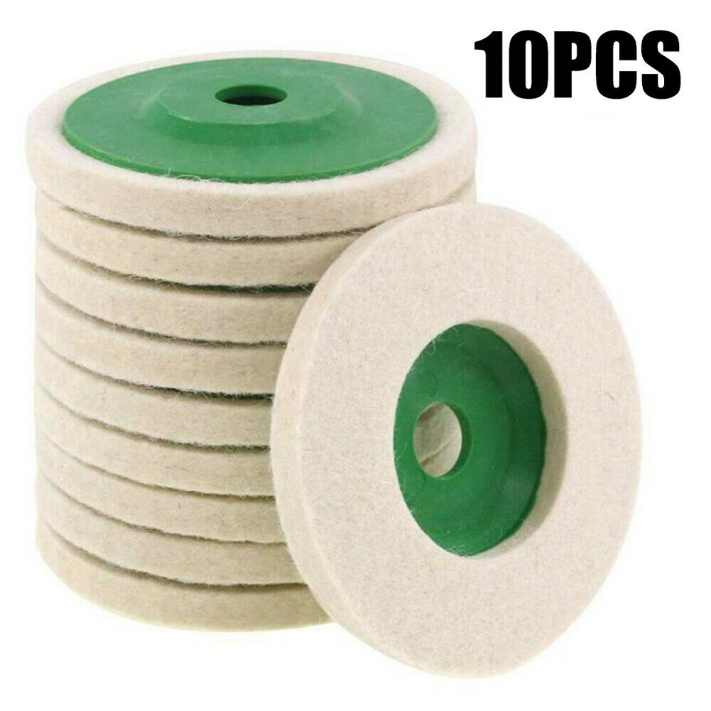 10pcs/set 100mm Grinding Wheel Automotive Polishing Disc Pad Glass Home Industrial Marble Round DIY Angle Grinder Wool Buffing