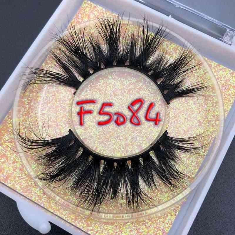 Квадратный чехол F5D блестящий чехол коробка Mikiwi 25 мм длина 5D норковые ресницы длительные ресницы большие драматические объемные ресницы