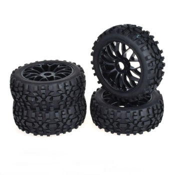 RC Tire 4pcs 17mm High Stability Hub Wheel Rim for 1/8 Off-Road RC Car Buggy KYOSHO HSP Sand Tire Rc Car Parts 1/8 Sand Tire 8010 diy replacement plastic wheel tire for 1 10 model car toy off white black 4 pcs