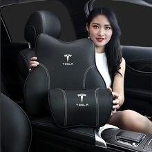 Pescoço travesseiro para tesla modelo 3 modelo x modelo s y assento dianteiro lombar completo proteger memória espuma almofada encosto de cabeça cintura apoio almofada