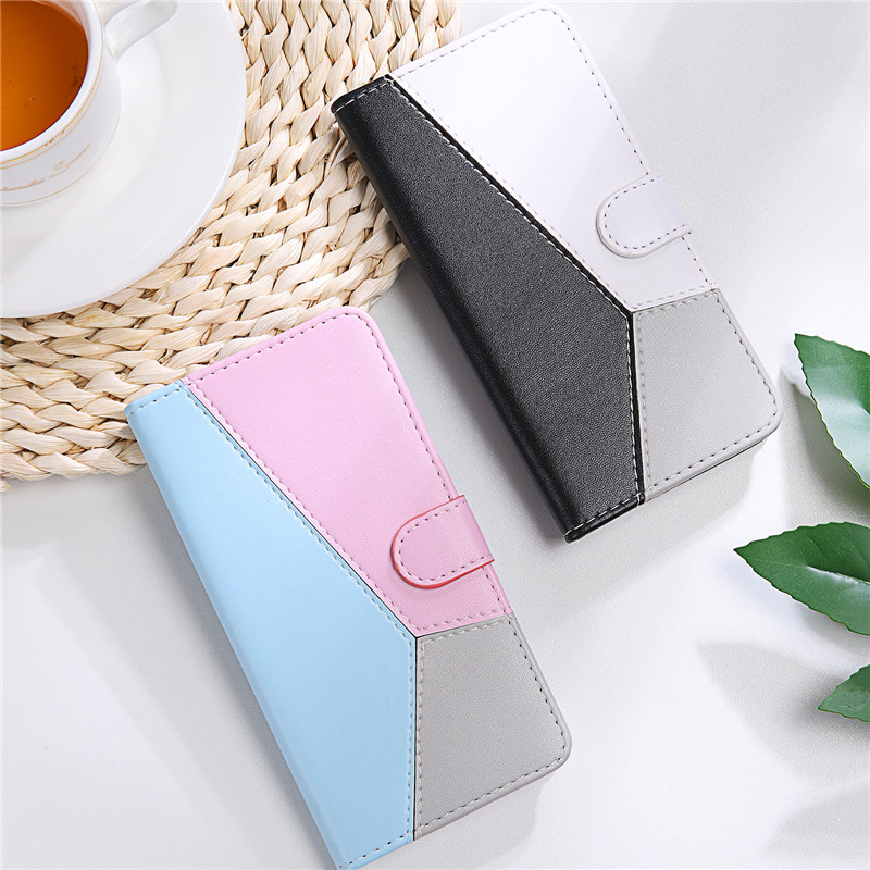 Three Colors Leather Flip Cover For LG Q Stylo 4 K40 K50 K30 2019 Q60 Q70 Q8 W10 Phone Case For LG W10 Stand Wallet Funda Capa