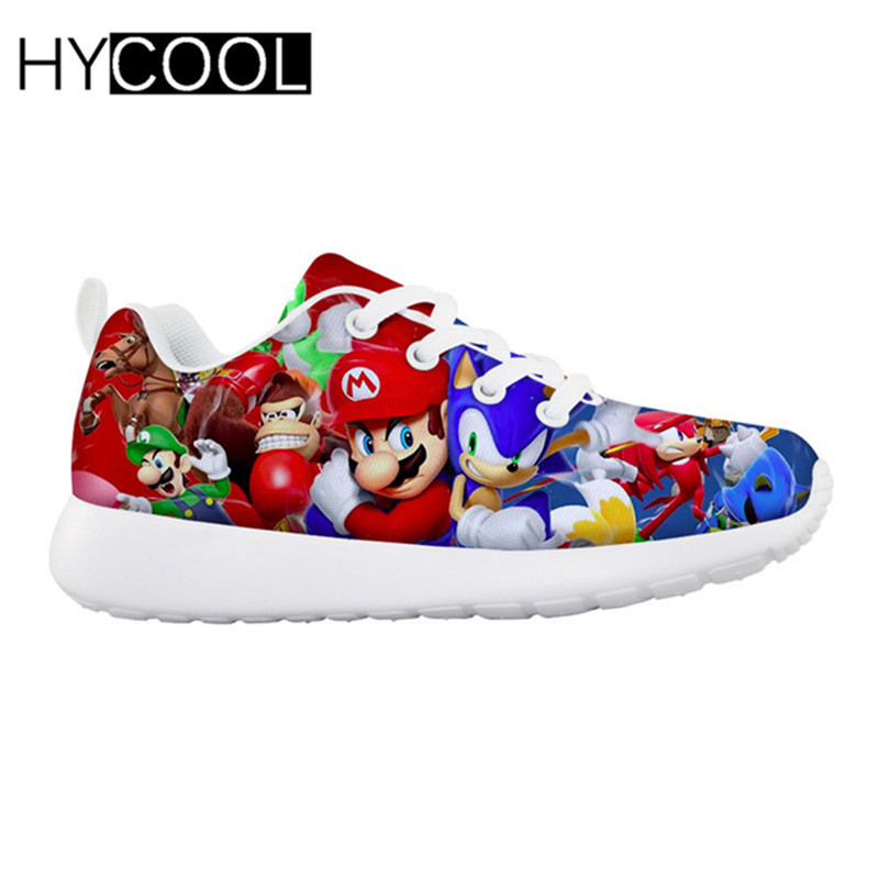 HYCOOL Children Shoes For Kids Boys Anime Super Mario Kids Sneakers Outdoor Sports Running Shoes Chaussure Enfant Garcon Fille