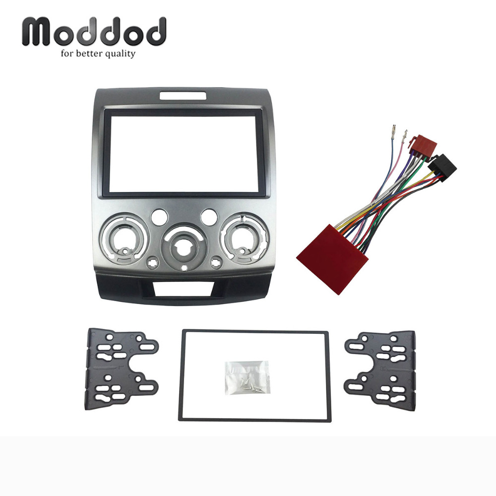 US $25.8 11% OFF|Double Din Fascia for Ford Everest Ranger Mazda BT on double din bracket, double din cover, double din radio, double din trim ring, double din dash panel,