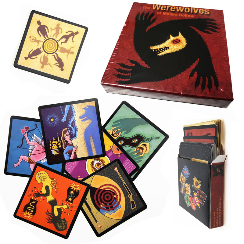 2020 New Arrival Werewolves Board Game Full English Version For Home Party Adult Financing Family Playing Cards Game 24 Cards