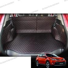 Lsrtw2017 Leather Car Trunk Mat Cargo Liner for Toyota Rav4 2013 2014 2015 Interior Accessories Rug Carpet Boot Auto Xa40 lsrtw2017 fiber leather car floor mat for chevrolet malibu 2012 2013 2014 2015 2016 2017 2018 2019 2020 rug carpet accessories