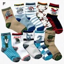 10 pairs / lot children boy socks kids 4-15 years old cartoon cotton childrens high quality