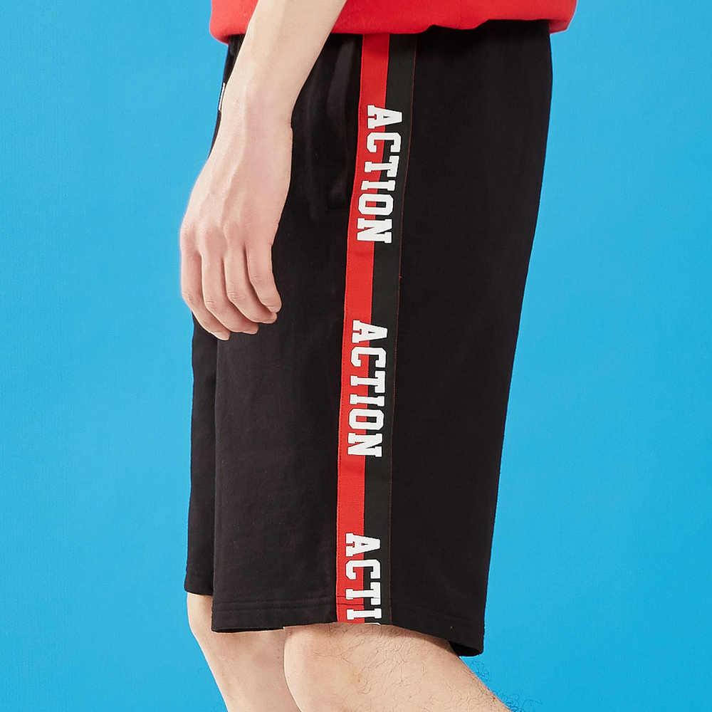 Metersbonwe Nieuwe Mannen Zomer Toevallige Korte Broek Mode Sport Stijl Streetwear Side Stripes Shorts Ademend