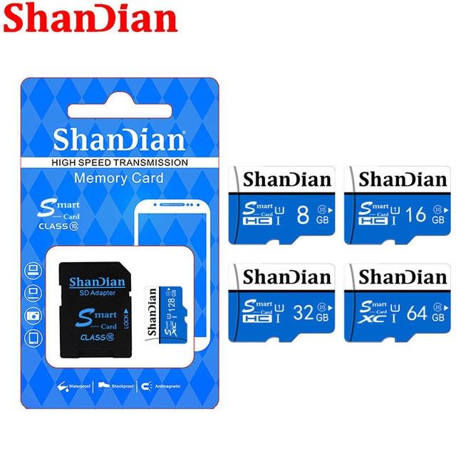 Shandia Originele Geheugenkaart 128Gb 64Gb 32Gb High Speed Flash 8Gb Microsd Tf/Sd Kaarten voor Tablet/Camera/Mobiele Telefoon