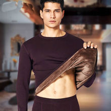 Эластичное хлопковое мужское термобелье, зимние водолазки, Мужская одежда, футболка, кальсоны с длинными рукавами