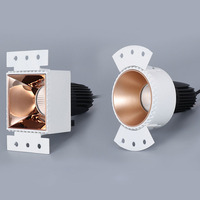 Dimmable COB Borderless Downlight 10W 15W Rimless Gold White Black Indoor Spot Light For Hotel Clothing Store AC85 265V