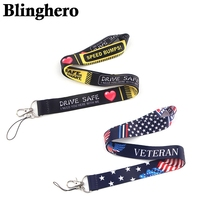CA1365 Veteran Military Patriotic American Flag Lanyard Keychain Lanyards for Keys Badge ID Phone Rope Neck Straps Accessories dmlsky kiki s delivery service lanyard keychain anime lanyards for keys badge id mobile phone rope neck straps gifts m3865