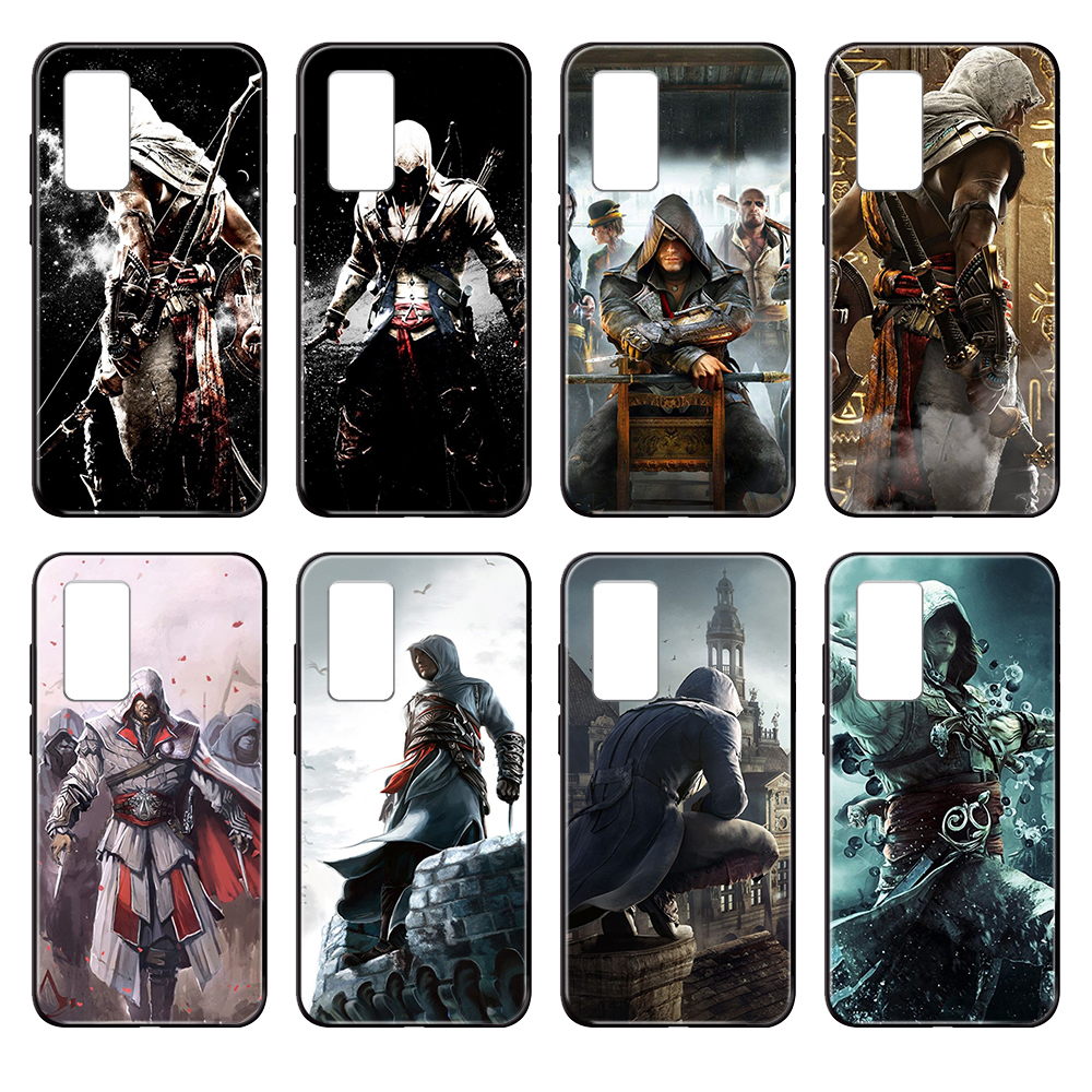 <font><b>2019</b></font> Skull Assassins Creed Game <font><b>funda</b></font> black Phone case For <font><b>Huawei</b></font> nova P <font><b>Y</b></font> 2 3 6 <font><b>7</b></font> 8 9 10 20 30 I Smart Plus Z Lite Pro II Prime image