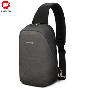 "Image 1 - Tigernu Anti theft Crossbody Bag Casual Men Chest Bag Waterproof  Male Sling Bag Messenger Bag Fit 9.7"" IPad for Teenager"