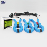 100A 200A 300A 600A 450VAC 3 phase multifunction meter power factor power energy KWh A V Watt panel meter with 3 clamp sensors