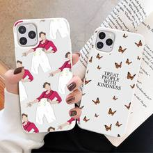 Pink Harry Styles one direction funda coque cover Phone Case Candy Color for iPhone 6 7 8 11 12 s mini pro X XS XR MAX Plus