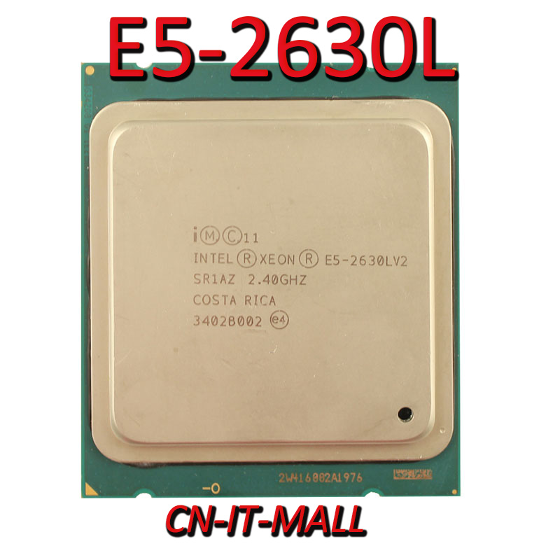 Pulled <font><b>Xeon</b></font> <font><b>E5</b></font>-<font><b>2630L</b></font> V2 Server cpu 2.4G 15M 6Core 12 Thread LGA2011 Processor image
