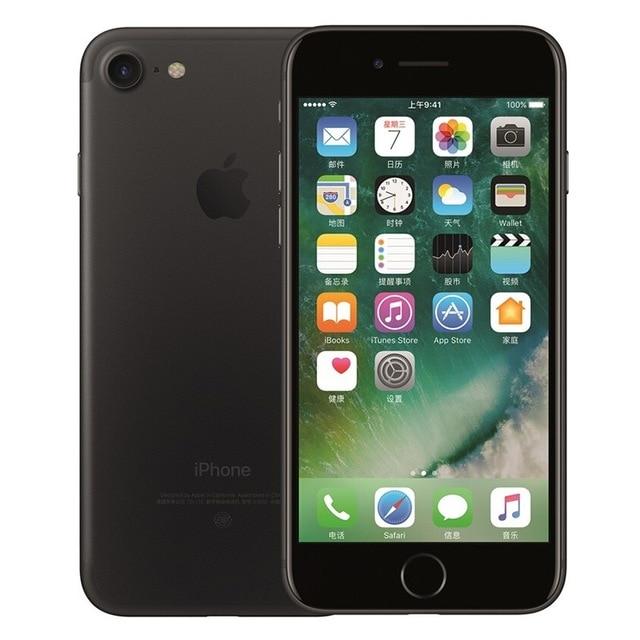 Разблокированный смартфон Apple iPhone 7 4G LTE 4,7 дюймов Apple A10 IOS 12,0 МП камера отпечатков пальцев 32 ГБ/128 ГБ/256 ГБ rom смартфоны - Цвет: Black