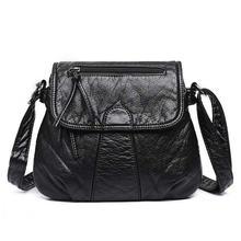 Женская сумка мессенджер мягкая через плечо из искусственной
