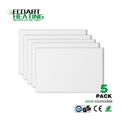 5pcs/lot 450W Infrared Heater Panel Carbon Crystal Heating Panel Home Office Yoga Studio Heating Solution  500*900mm