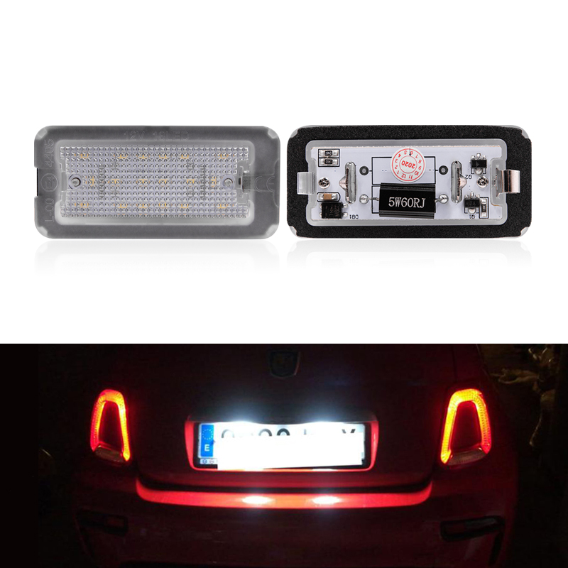 2x подходит для Fiat 500 / Abarth 500 2007-2016 CANbus Xenon White Led номерной знак свет