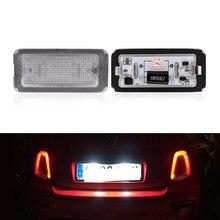 2x подходит для Fiat 500 / Abarth 500 2007-2016 CANbus Xenon White Led номерной знак свет