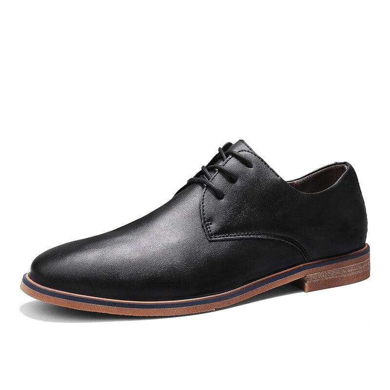 2020 Luxe Hommes Formelle Mariage Chaussures Plates Chaussures habillées En Cuir pour Hommes grande taille 39-44 à lacets Affaires décontracté Chaussures En Cuir! 6188