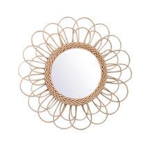 Ротанговое туалетное зеркало инновационное арт-деко круглое зеркало для гостиной Настенное подвесное зеркало декоративные принадлежности