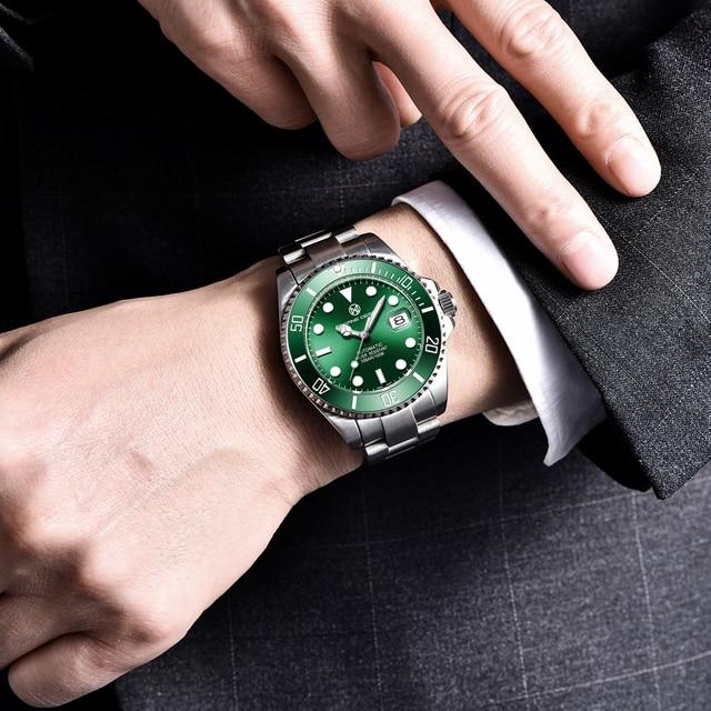 2020 PAGRNE DESIGN Top Brand Luxury Kelpie Series Watch Men Automatic Mechanical Wristwatch Stainless Steel Relogio Masculino 3