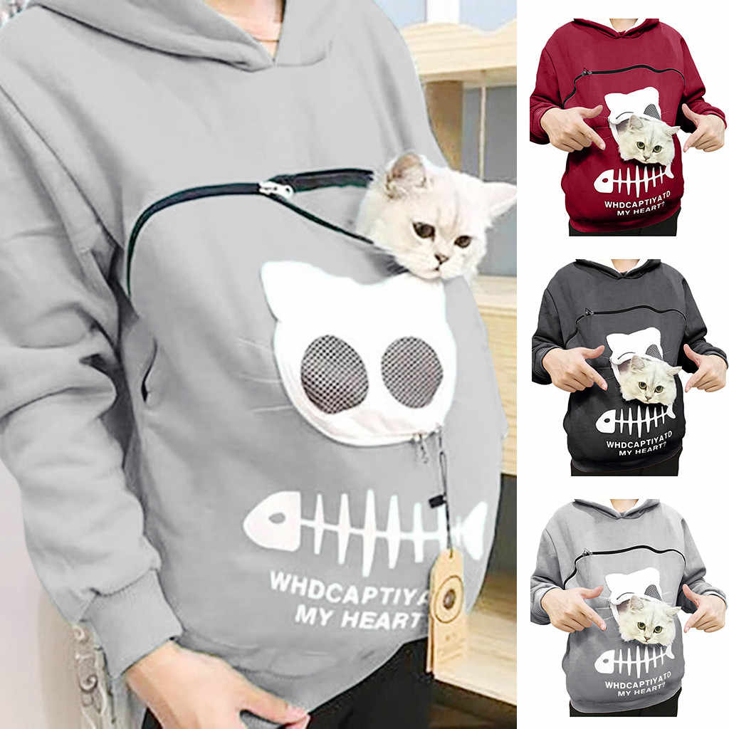 Porte-Animal épaissir chemises chaton chiot support Animal poche capuche respirant noël sweat pour enfants sweat à capuche pour femme