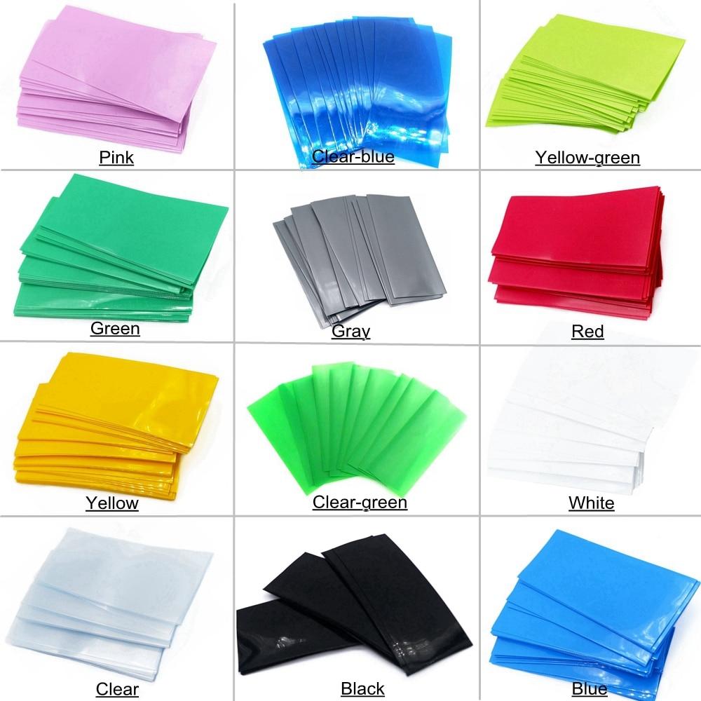 50Pcs/Pack Battery 18650/20700/21700/26650 Battery Wrap Wrapper Case Sticker Sleeve Cover Skin 18650 21700 26650 PVC Heat Shrink