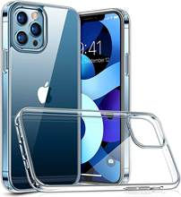 Ultra cienka przezroczysta tylna okładka miękki futerał na telefon iPhone 12 11 Pro Max Mini X XS XR 7 8 Plus SE 2 2020 przezroczysty silikonowy Shell