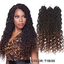 Goddess Faux Locs Crochet Hair Braids Wavy Synthetic Braidin