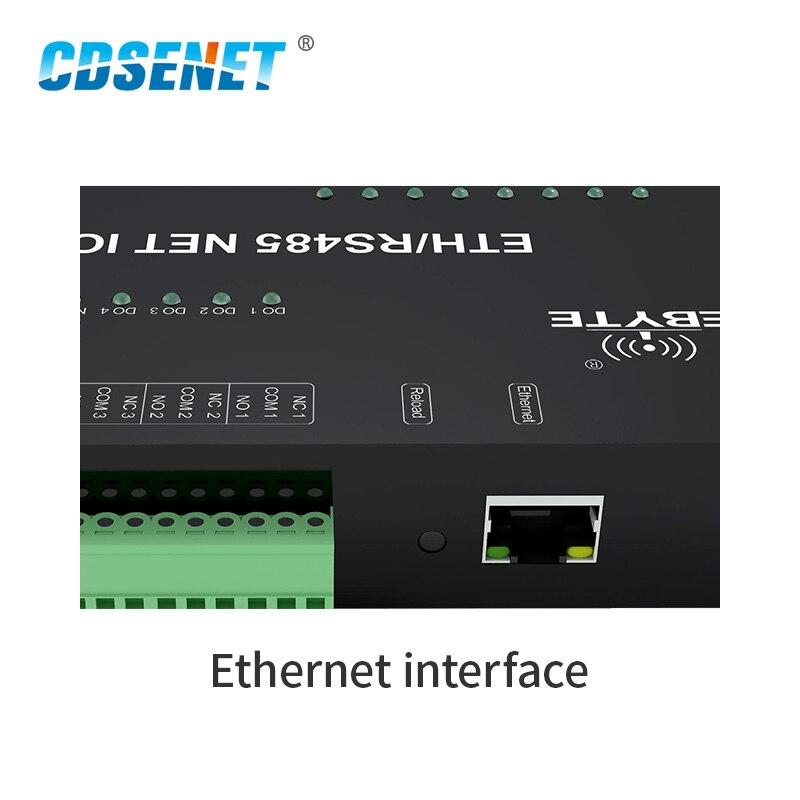Ethernet RS485 12 Way Network IO Controller Modbus TCP RTU Analogico Digitale di Uscita A Relè Ingresso Master Slave Presa di Collegamento - 4