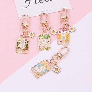 1 Uds. Bonito amuleto de cultura japonesa talismán buenos deseos bendición Metal pendientes llaveros suerte fortuna Ornamen figuras Juguetes