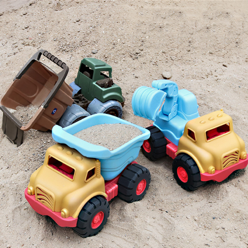 New Beach Toy Excavator Mixer Truck Dump Truck Engineering Vehicle Playing With Sand Glide Hot Sale Toys For Children Baby Gifts