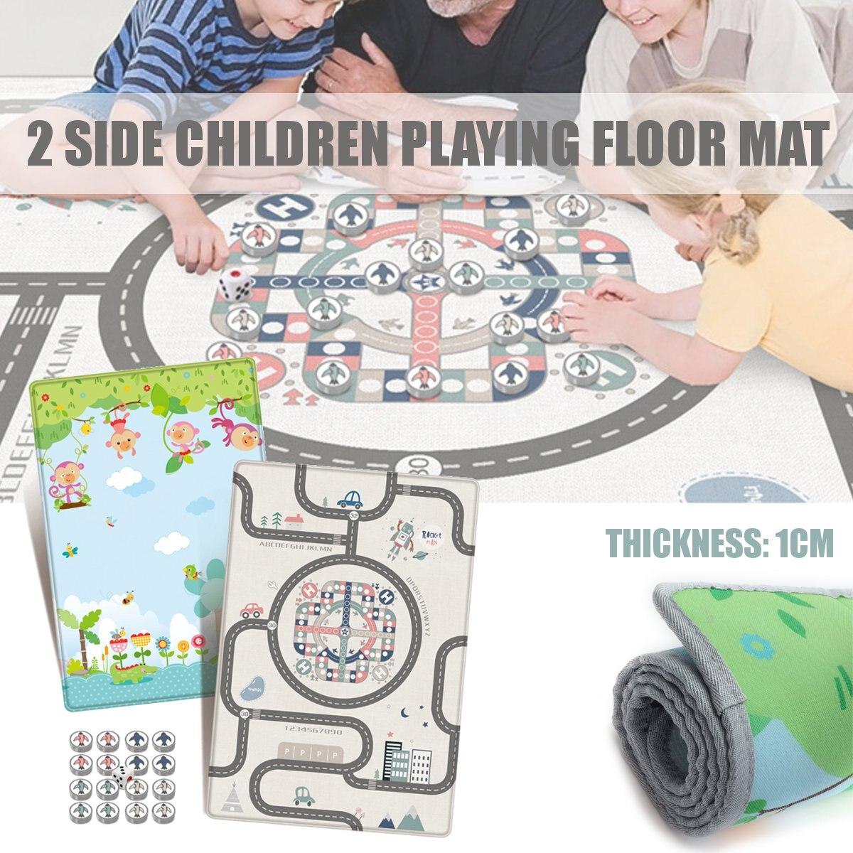 Volant échecs bébé ramper tapis de jeu jeu tapis couverture épaissir imperméable tapis de sol bébé bambin jouets d'apprentissage précoce 180x120cm