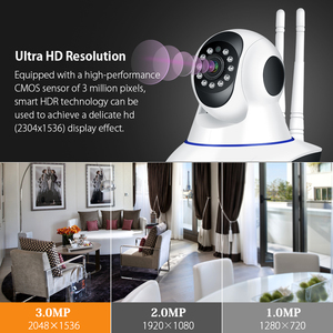 Image 2 - 1080P 무선 WIFI 사진기 WIFI 팬 기울기 HD IP 사진기 2.0MP 양용 오디오 야간 시계 동의 탐지 CCTV 사진기