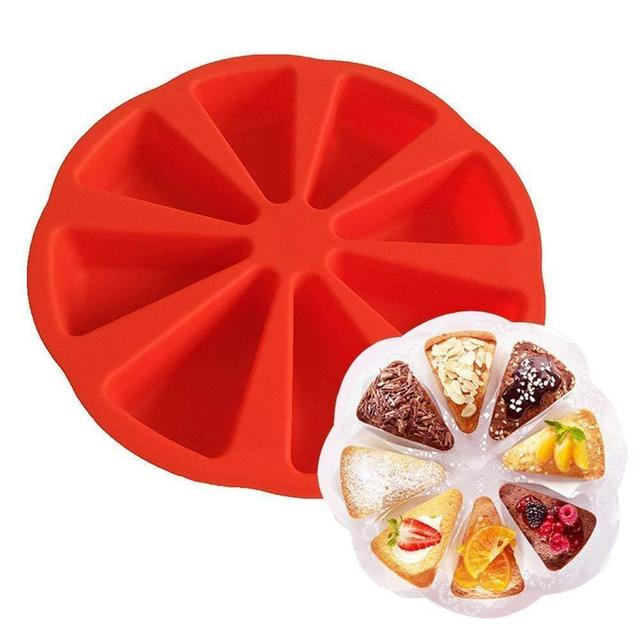 Bakeware molds cake pan silicone cake mold pudding triangle cakes mould muffin baking tools fondant cake molds