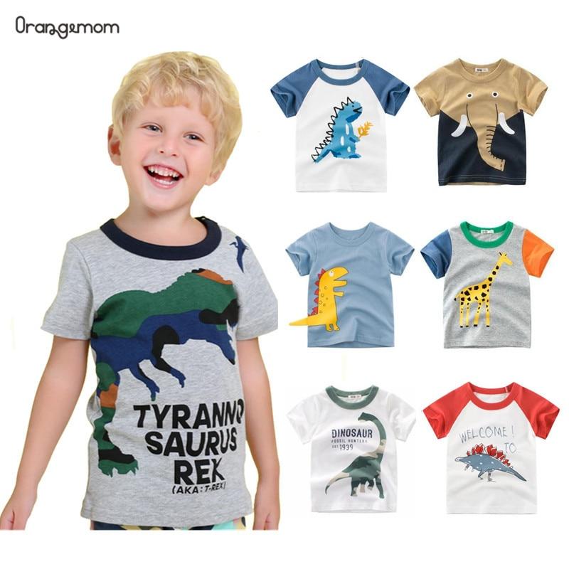 Orangemom New 2020 Summer Children's Clothing Boys Short Sleeve T-shirt  Kids  Sweatshirt Child's Cotton Clothes Boys T Shirt