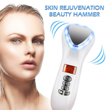 LED Hot Cold Hammer Facial Lifting Vibration Massager Ultrasonic Cryotherapy Face Body Spa Import Export Beauty Salon Machine