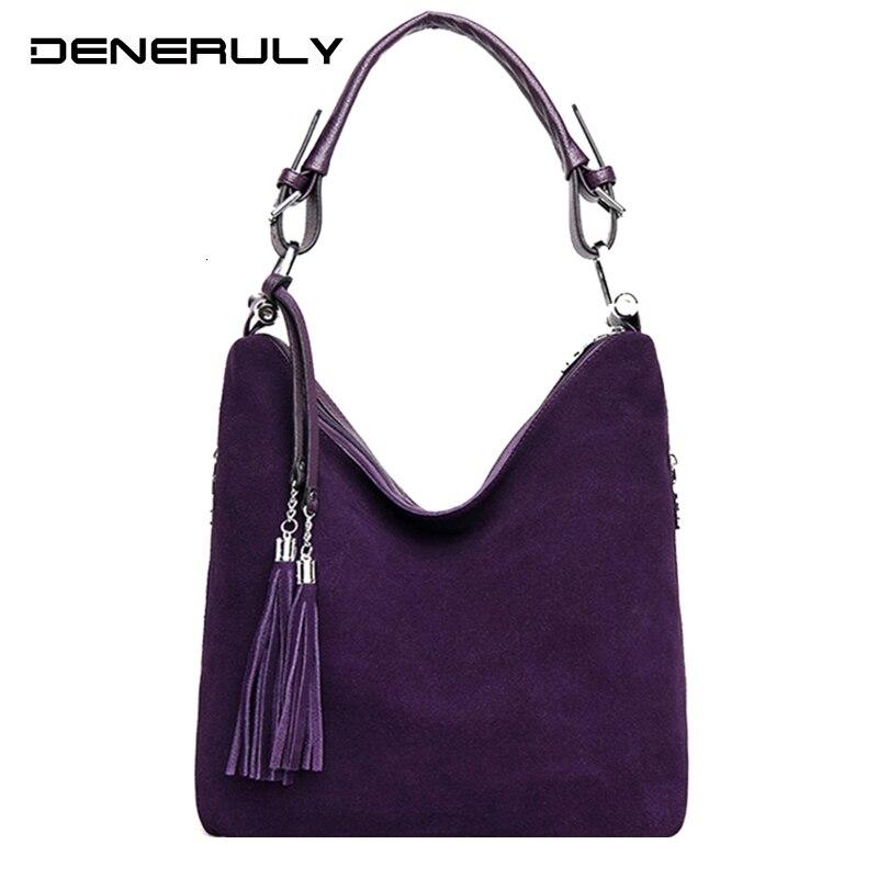 Luxury Handbags Women Bags Designer Buckskin Suede Crossbody Bags For Women 2019 Vintage High Quality Shoulder Bag For Ladies
