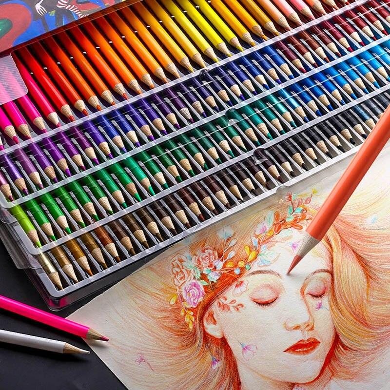 Набор профессиональных масляных цветных карандашей, альбом для рисования, 120/160 цветов