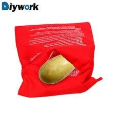 Saco de batatas de cozimento de microondas fácil de cozinhar bolso de vapor rápido batatas cozidas arroz bolso lavável