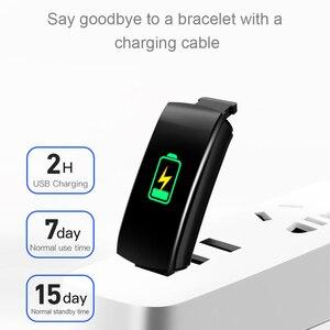 Image 3 - חכם כושר צמיד לחץ דם מדידה כושר גשש עמיד למים חכם להקת שעון קצב לב Tracker עבור נשים גברים