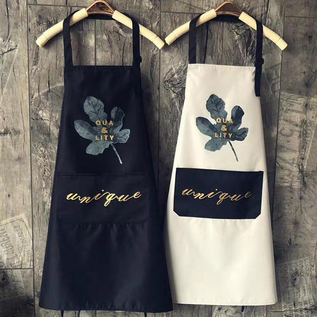 1Pcs Striped Waterproof Polyester Bib Apron Woman Adult Bibs Home Cooking Baking Coffee Shop Cleaning Aprons Kitchen Accessory 1