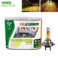 Галогенная головка XENCN H7 12 В 55 Вт P43t 2300K, супер желсветильник лампа для автомобиля, 30% светильник, бесплатная доставка, 2 шт.